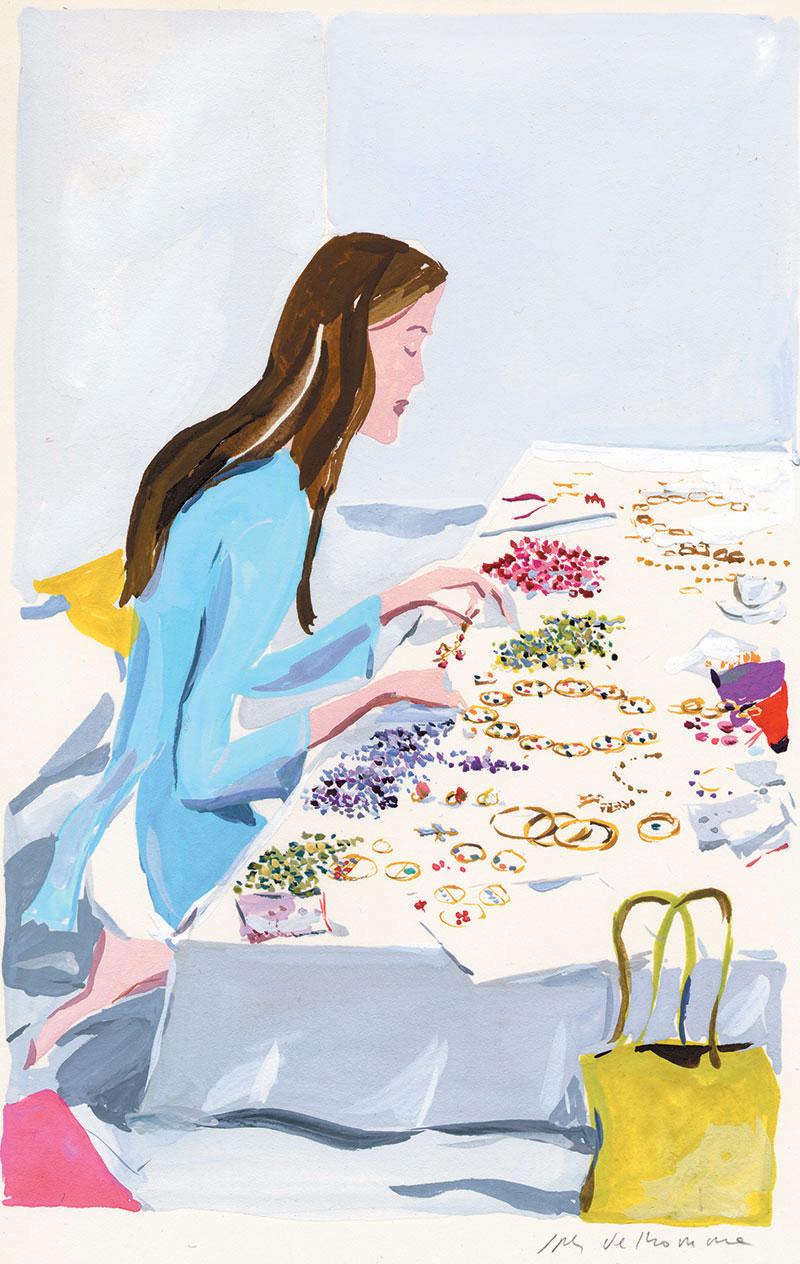 Marie-Hélène à sa table par JP Delhomme