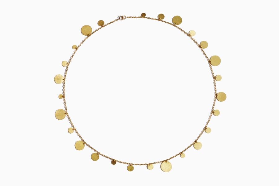"""Gold Sequins"" necklace)"