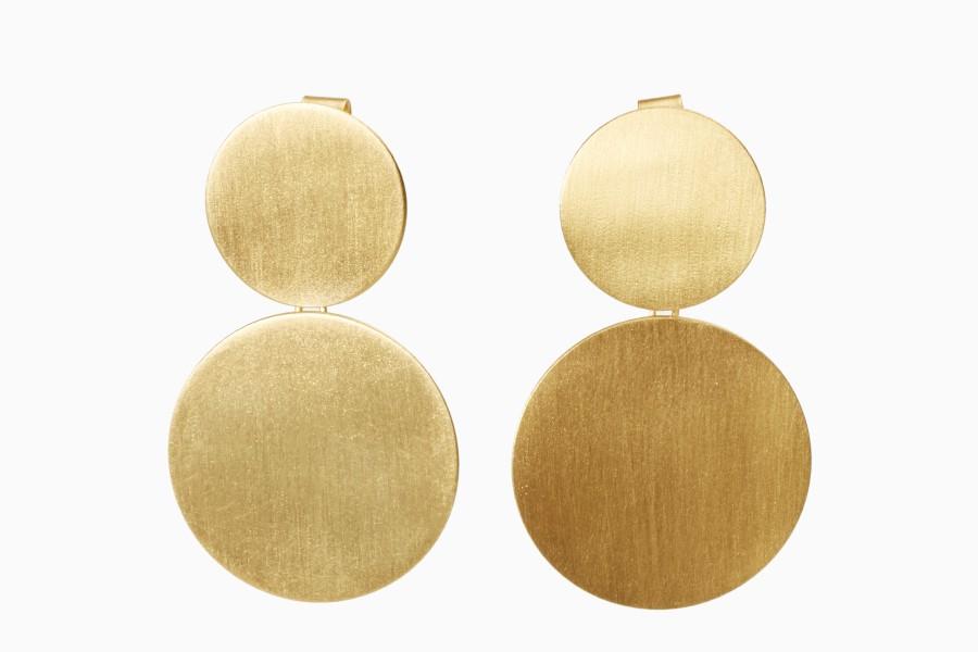 """Gold Incandescence"" earrings)"